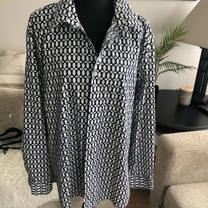 Nick Graham- Black and white button down - Lg
